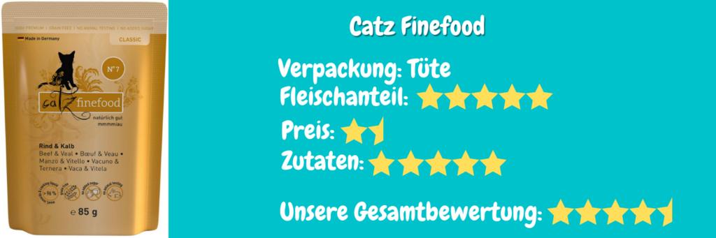 Katzenfutter Bewertung Catz Finefood