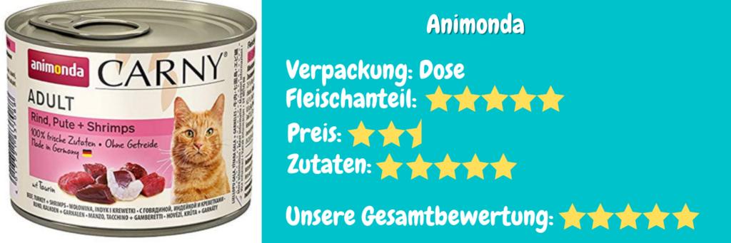 Katzenfutter Bewertung Animonda Carny