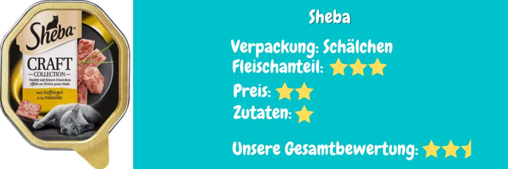 Katzenfutter Bewertung Sheba