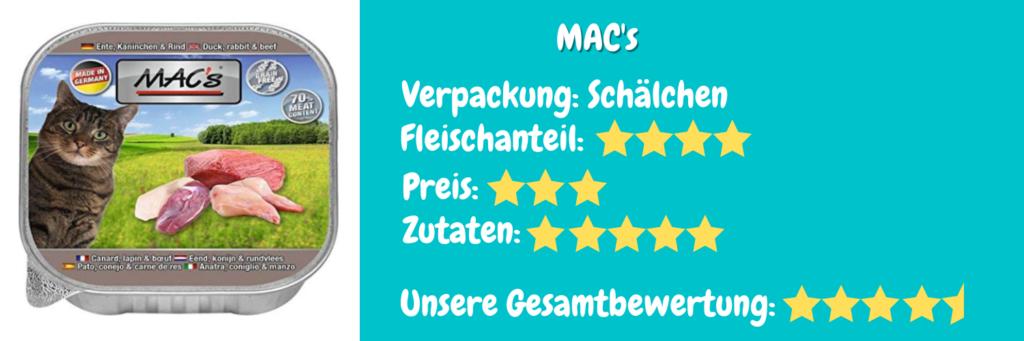 Katzenfutter Bewertung MAC's